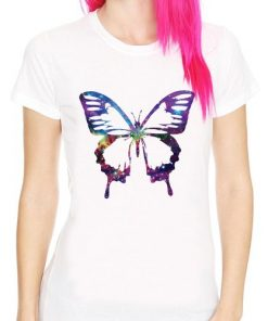 Awesome Butterfly Simple Art Design T-Shirt Women's DB