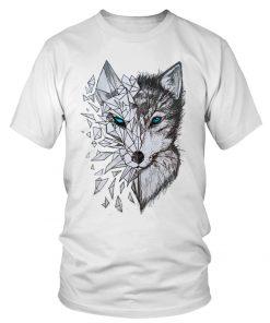 Beautiful Wolf T-Shirt Design DB