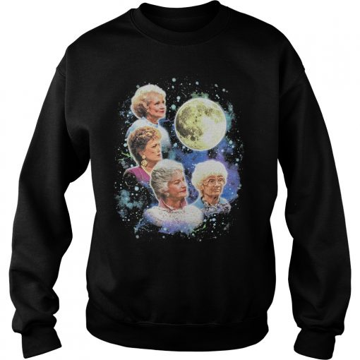Bioworld The Golden Girls Women's Four Golden Girls Moon Sweatshirt DB