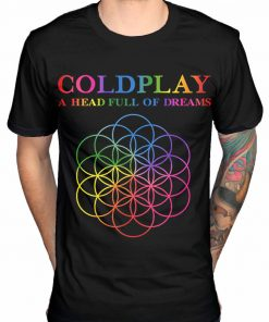 Coldplay A Head Full of Dreams Mens Black Cotton Top T-Shirt Tee DB