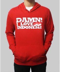 Damn I Love Indonesian Hoodie DB