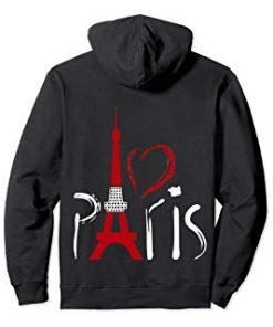 I Love Paris Hoodie france Pullover Hoodie DB