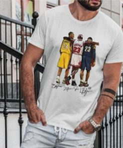 Lebron James Kobe Bryant Michael Jordan Signatures T-Shirt DB