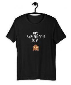 My Boyfriend Is A Monkey Tshirt DB
