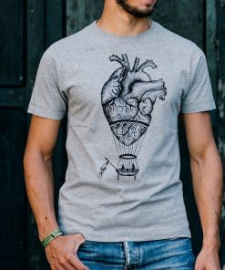 anatomical hanatomical heart shirt, hot air balloon, boyfriend t-shirt DBeart shirt, hot air balloon, boyfriend t-shirt