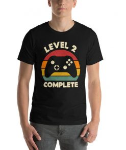2nd Anniversary Gift, Funny 2 Year Anniversary, Fathers Day Gift, Video Game Shirt, Anniversay Gifts for Husband, Gamer Dad Gift, Level 2 T-Shirt DB