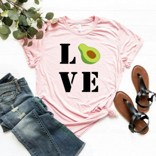 Avocado T Shirts - Shirts for Foodies - Extra Avo Shirt Avocado Toast Guac Unisex T-Shirt Avocado-holic - T-Shirt DB