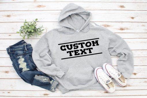 Custom Hoodie, Unisex Hoodie, Customized Pullover Sweatshirt, Personalized Hoodie, For Men, Women Custom Hoodie, Gift Idea, Design Your Own Hoodie DB