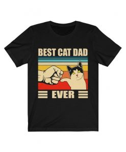 Best Cat Dad Ever - Best Cat Daddy - Unisex Jersey Short Sleeve Soft Touch Tee DB