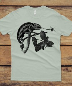 Chameleon Unisex Shirt - Lizard Tshirt - Lizard Graphic Tee Shirt - Animal Shirt - Men's and Women's - Reptile Shirt DB